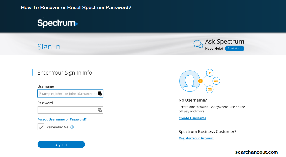 How To Recover or Reset Spectrum Password?